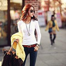 =EF依芙=韓國首爾 時尚精品 東大門同步 名韓妮 6161正韓 流行前線 長袖百搭修身顯瘦T恤