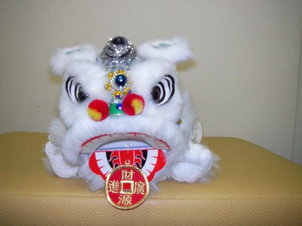 kjleisuretw達客網~~[新年最佳獻禮]~河洛坊布袋戲玩偶~獅子面紙盒套~白色~送精緻禮盒喔