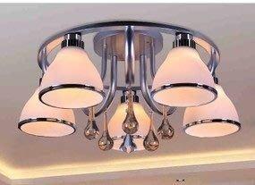 {美學}簡約玻璃燈具餐廳客廳燈書房臥室鋁led白熾燈88006琉璃質MX-2128