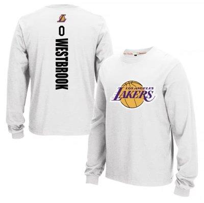 🔥威少Russell Westbrook長袖純棉T恤上衛衣🔥NBA湖人隊Nike耐克愛迪達運動籃球衣服大學T男女25
