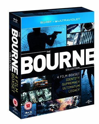 [現貨]正版全新藍光BD~神鬼認證四部曲The Bourne Collection: 4 Film Boxset神鬼認證