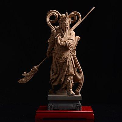 傳藝工坊 - 『伽藍菩薩 大』二護法  關公 關聖帝君 關刀  陶土 陶塑 附底座 東方擺件藝品 另有韋馱菩薩 小佛像