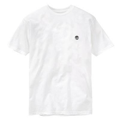 出清特價499元~☆ 瘋加州 ☆ Timberland -電繡LOGO 白色男短Tee T恤 M