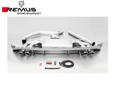 【Power Parts】REMUS 中尾段(含尾飾管+後CARBON擾流) VW GOLF GTI VII 2015-