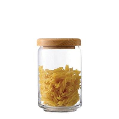 ☘小宅私物☘ Ocean 木蓋儲物罐 750ml 收納罐 密封罐 玻璃罐 咖啡罐 保鮮罐 現貨附發票