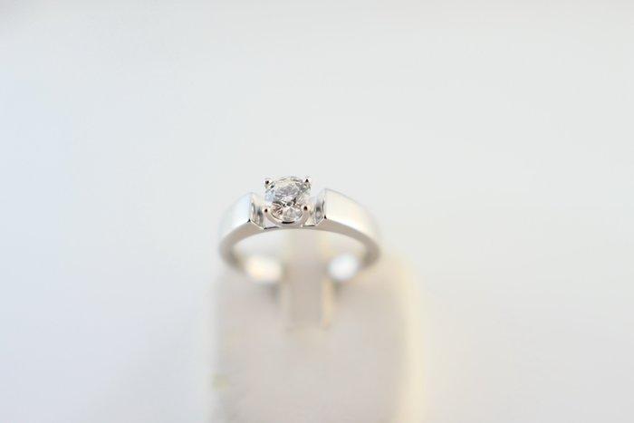 [吉宏精品交流中心]32分 天然鑽石 GIA G/VS1 3EX 八心八箭 YUDOLE 白K金 戒指(盒卡全)