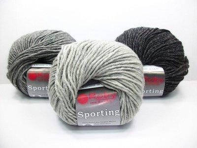 【天河、小珍珍】Roby 日出(防縮)素毛線 Sporting 100%美麗諾羊毛【義大利進口】