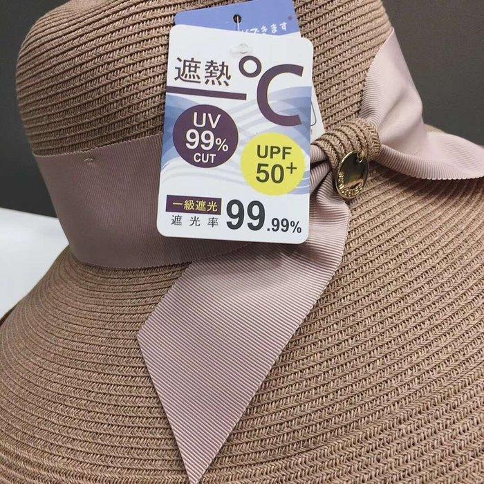 日本草帽 蝴蝶結 孫儷沙灘帽 遮陽帽 寬大帽沿 抗UV防曬遮陽 小清新大帽簷 日本遮陽防曬帽