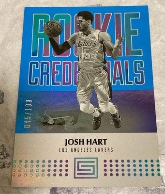 Josh Hart 17/18 Status Blue #2 rookie credentials /199