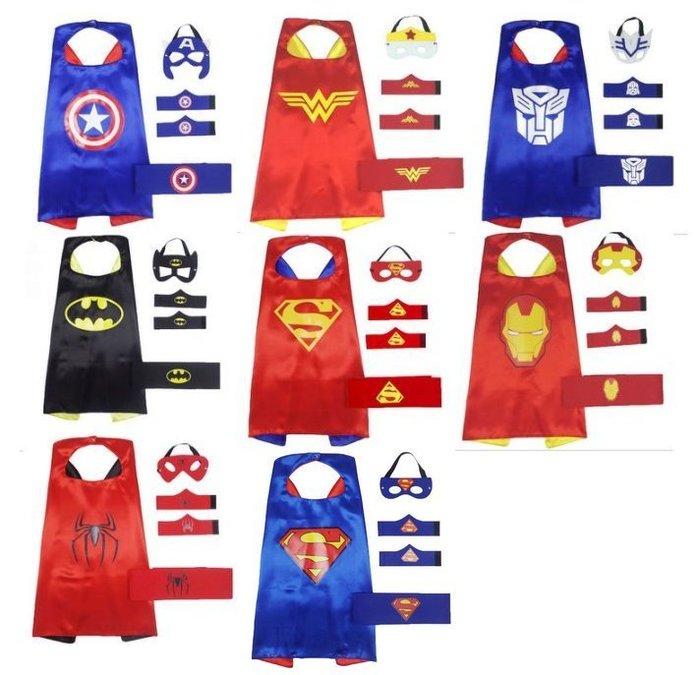 萬聖節服裝/復仇者聯盟/神力女超人/超人披風/鋼鐵人/雷神/蜘蛛人/蝙蝠俠/英雄披風套裝組