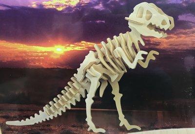 DIY木質拼圖 3D立體拼圖-恐龍系列(暴龍/恐爪龍/三角龍/蛇頸龍/翼手龍)