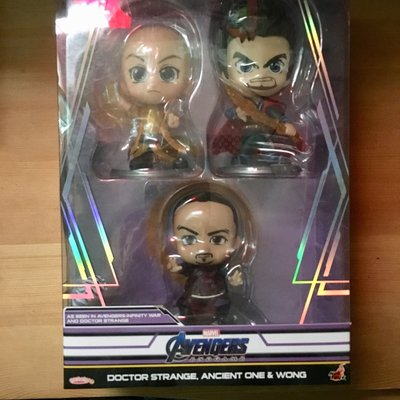 Hottoys Cosbaby Dr Strange, Wang, Acient One 奇異博士 王 古一 Avengers
