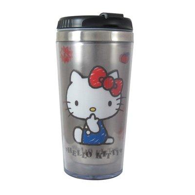Hello Kitty真空保溫瓶/隨手瓶 500ml(米白色)KF-5355