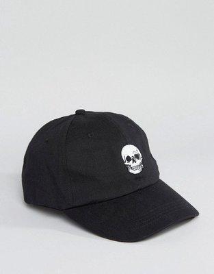 【T4H】Reclaimed Vintage Skull Baseball Cap 黑 骷髏 可調 百搭 棒球帽【現貨】