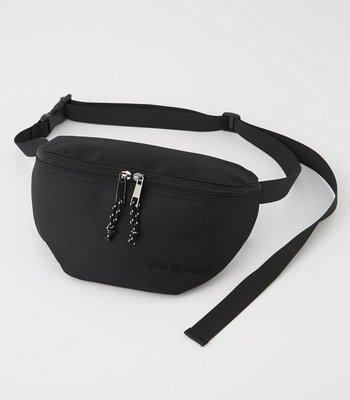 日本 Azul By Moussy 黑色帆布 刺繡 LOGO 斜咩 腰包 ($250 包順豐)