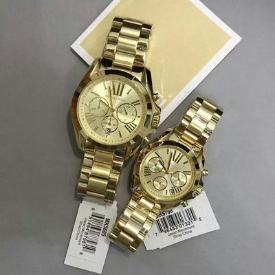 ☆美國Michael Kors代購網☆ MK手錶 潮流時尚金色三眼計時石英錶 腕錶 MK5605 美國正品代購 附購證