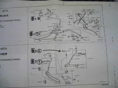材料達人 NISSAN 日產 正廠 天籟 TEANA 04 05 06 07 方向機油管 2004-2008年 2.3/3.5