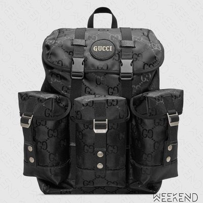 【WEEKEND】 GUCCI Off The Grid Logo 尼龍 後背包 黑色 20秋冬 626160
