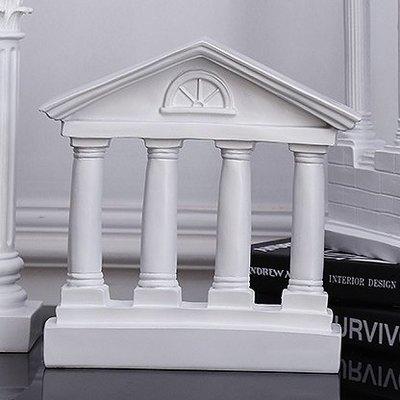 異域浪漫唯美氣氛 古城白柱牆面擺飾 古羅馬柱 神廟大門入口遺跡裝飾 希臘神話古蹟建築模型 拍攝道具 美術素描 婚禮布置