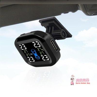 胎壓監測器 汽車輪胎壓力檢測器偵測器USB電源接線改裝內外置TPMSTXYJX