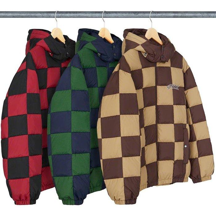 【美國鞋校】預購 SUPREME FW19 Checkerboard Puffy Jacket 羽絨衣
