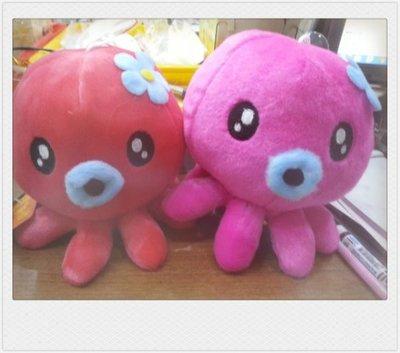(花花手作材料)P105~~~15公分章魚玩偶--85元