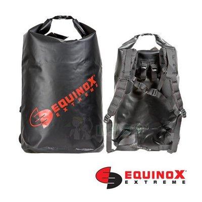 【山野賣客】Equinox 50公升(後背式) 黑色 100% 防水袋 泛舟 浮潛 溯溪 衝浪 海釣 釣魚 46063