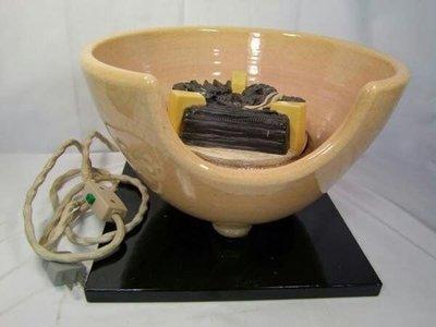 日本茶道具 野々田式風炉型 炭型電熱器 紅鉢
