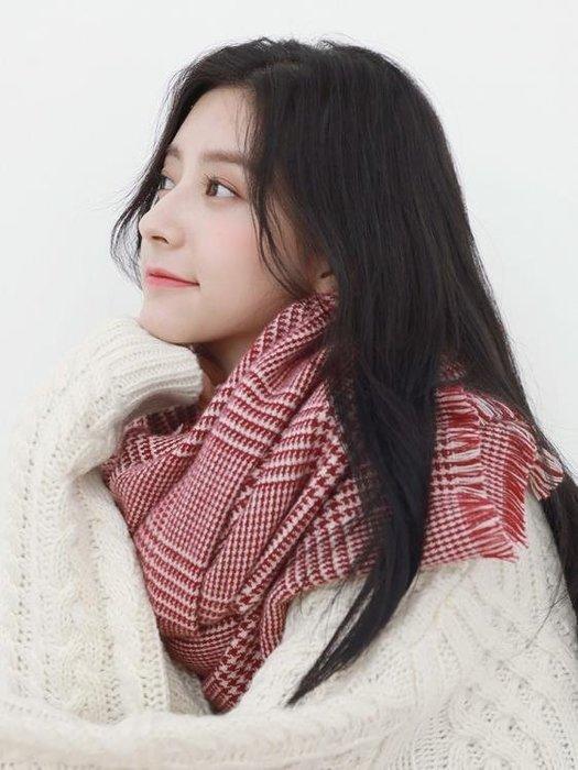 圍巾女冬季韓版百搭學生加厚長保暖英倫格子情侶款圍脖披肩