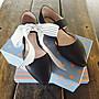 ♀️女:羊皮- 側縷空寬帶尖頭瑪莉珍鞋、鍛帶...