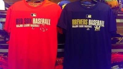 MLB Majestic美國大聯盟 球員版快速排汗短袖T恤 紅襪/釀酒人/道奇/洋基
