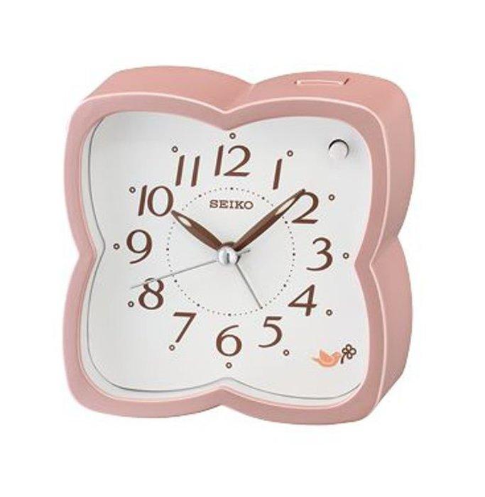 SEIKO CLOCK 精工珠光粉紅蝴蝶 擇式鈴聲 兩組森林原音鳥鳴 BB聲 鬧鐘 :QH