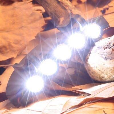 廠家直銷 5LED 夾帽燈 帽檐燈 帽子燈 頭燈 夜釣燈 含電池