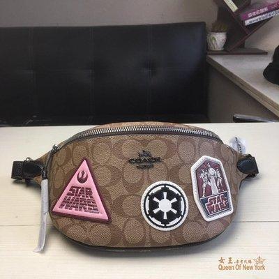 【紐約女王代購】COACH 寇馳 88013星戰系列徽章胸包 腰包 美國代購