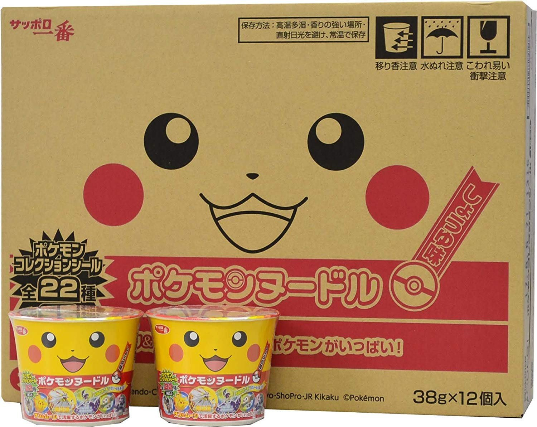 日本 札幌一番 皮卡丘 pokemon 泡麵 38g 杯麵 寶可夢 一箱12入 海鮮 醬油 LUCI日本代購