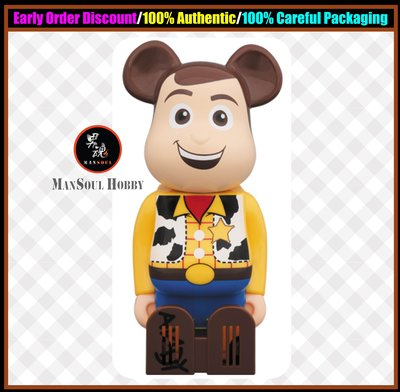男魂 預訂 9-10月 可順豐 胡迪 Medicom Cleverin BE@RBRICK Toy Story Woody