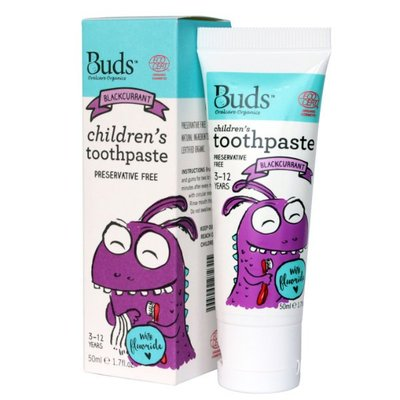 Buds - 3-12 years Children's Toothpaste with Fluoride (Blackcurrant) 黑加侖子味 50ml