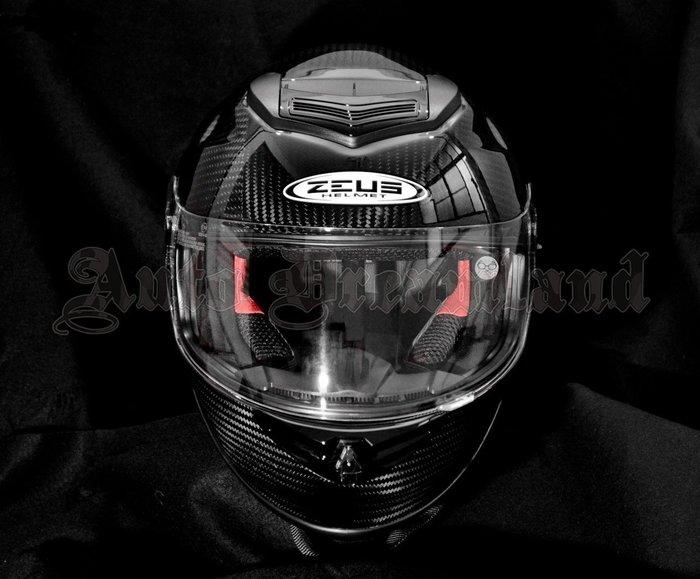 ZEUS 瑞獅 ZS-1600 碳纖維 Carbon 卡夢 極輕量 雙層 內墨片 全罩式 安全帽 可加購電鍍片 尺寸M