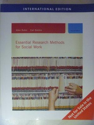 【月界二手書店】Essential Research Methods for Social Work 〖大學社科〗AGT