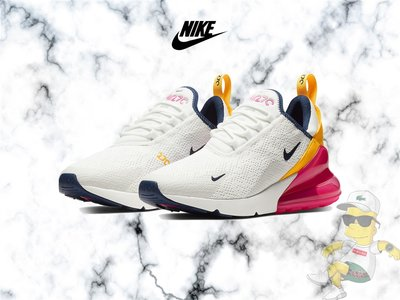 【H-Sneaker】全新 NIKE W AIR MAX 270 白桃紅 橘黃 氣墊 慢跑 女鞋 AH6789-106