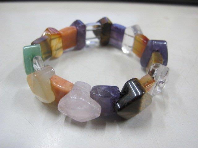 二手舖 NO.4007 天然水晶 各色水晶手鍊 手環 手珠 串珠 首飾飾品