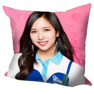 現貨!!Mina 名井南 個人 TWICE 抱枕 靠墊 枕頭,40x40cm,緞紋布,色彩鮮豔,印製精美。B款