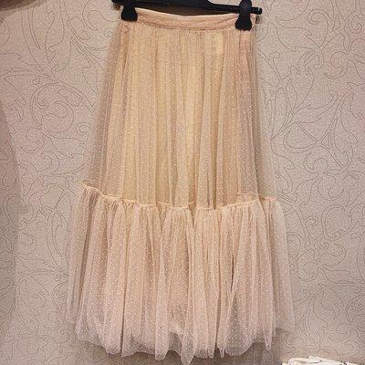 《巴黎拜金女》歐美小眾時尚流行ins風真絲內襯波點半身紗裙女