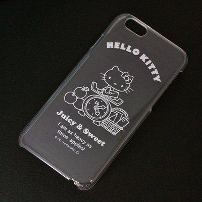 尼德斯Nydus~* 日本三麗鷗 Hello Kitty 透明系列 手機殼 保護殼 iPhone6 4.7吋 磅秤款