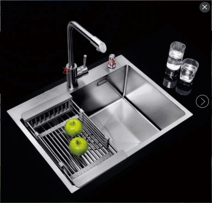 FUO衛浴: 60LX45W 公分 流理台/吧台用 手工304不鏽鋼水槽 (6045DT)現貨特價!