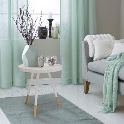 【歐雅系統家具】比約圓形實木茶几 - 白色 / 現成茶几 / 茶几 / 北歐風