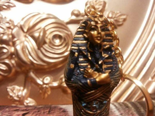 [  Vero 設計家作品 手工彩繪-圖坦卡門 法老王 飾品配件 鑰匙圈 ]-Egypt埃及古文明.