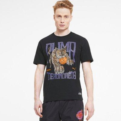 【吉米.tw】PUMA  黑 短袖 短T THE HUNDREDS 滿版 休閒 歐規 男款 59675001 MAY