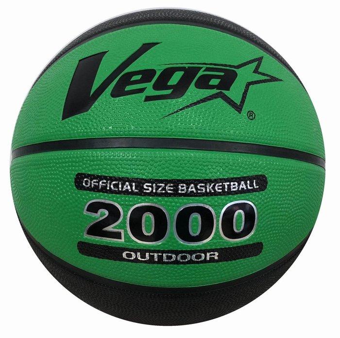 體育課 VEGA 7號籃球 OBR-750G/B 2000系列橡膠籃球  綠/黑色 平價籃球 國、高中社會組大小#7