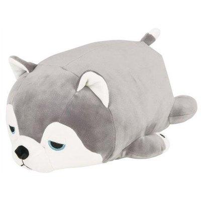 【日本Nemu Nemu可愛趴睡療癒抱枕 哈士奇 狗狗S】羊兔小舖 日貨 日本代購 午睡枕頭 靠墊 娃娃玩偶 禮